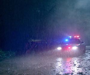 police, rain, and screencap image