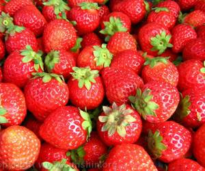 food, strawberry, and red image