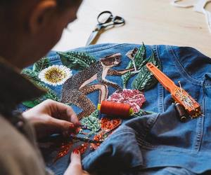 atelier, fashion designer, and sewing image