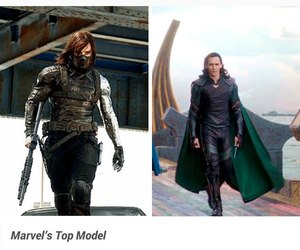 Marvel, loki, and winter soldier image