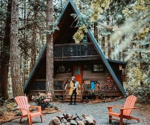 camping, forest, and house image