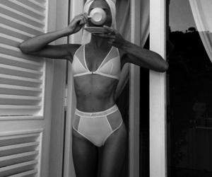b&w, black & white, and breakfast image