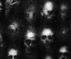b&w, black, and Darkness image