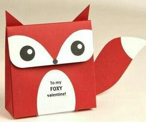 valentine, fox, and diy image