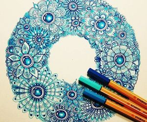 beautiful, art.colorful.flower, and design image