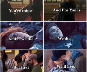 black widow, captain america, and otp image