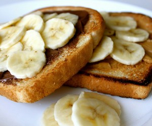 banana, food, and nutella image