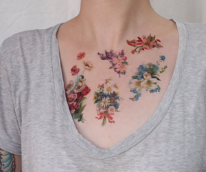 girl, style, and tattoo image