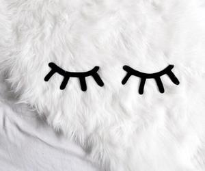 white, eyes, and black image