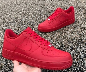 nike, red, and tenis image