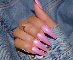 claws, nails, and pink print image