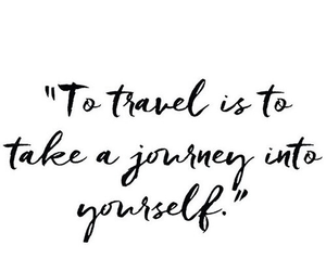 quotes, travel, and journey image