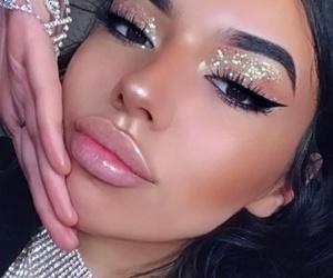 beauty, brunette, and eyelashes image