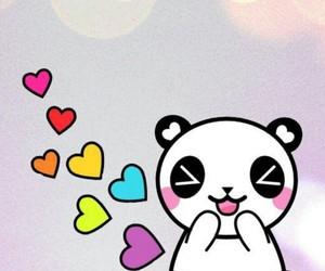 panda, love, and wallpaper image