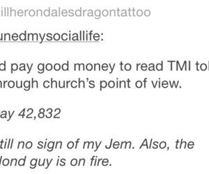 james, the mortal instruments, and cassandra clare image