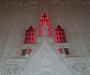 white, red, and architecture image