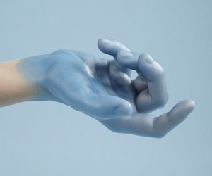 blue, hand, and aesthetic image