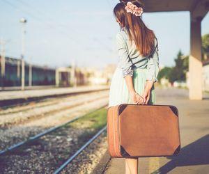fashion, girl, and railway image
