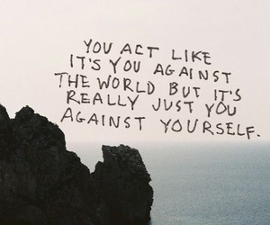 quotes, world, and yourself image