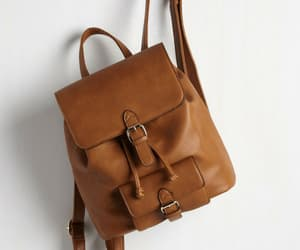 backpack, aesthetic, and brown image