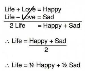 life, sad, and happy image