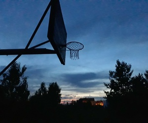 Basketball, blue, and night image