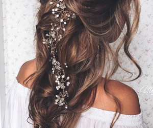 girly, hairstyle, and hair image