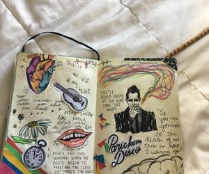 brendon urie, heart, and panic at the disco image
