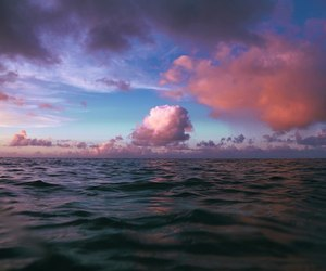 clouds, nature, and ocean image