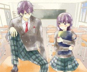 couple, manga, and manga girl image