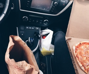 car, fastfood, and food image