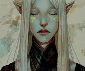 elf, dragon age inquisition, and elven image