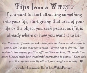 life, tips, and witchcraft image