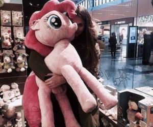 girl, pony, and pink image