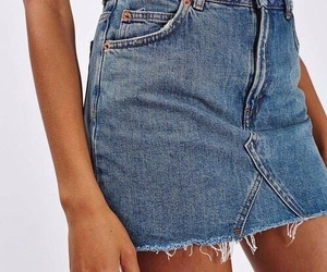 denim skirt image