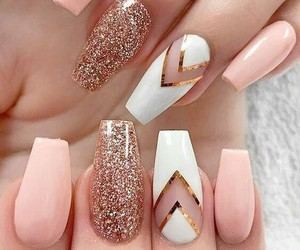 chic, nails, and girl image