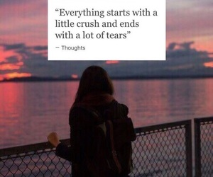 quote, crush, and sad image