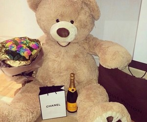 love, chanel, and bear image