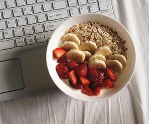 strawberry, banana, and food image