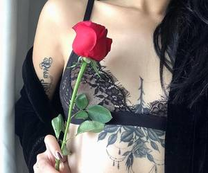 aesthetic, outfit, and red rose image