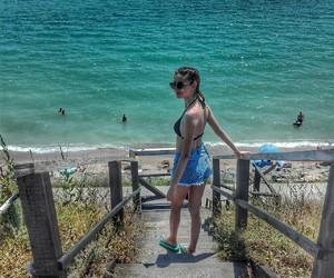 beach, girl, and pose image