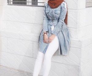 hijab, ootd, and hijab fashion look image