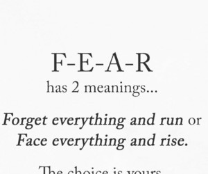 quote, fear, and choice image