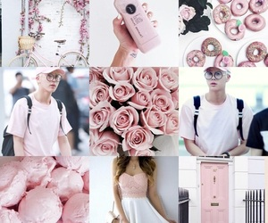 Collage, pink, and bts image