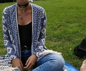 blue, happy, and picnic image