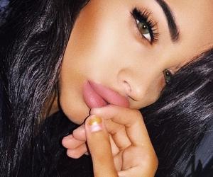 dress, madison high+heels+cute, and contour+beauty+lips image