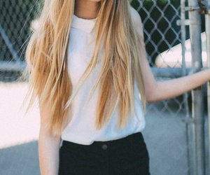 blonde, girl, and pretty image