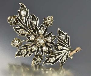 antique, brooch, and victorian image