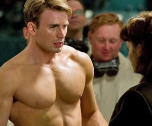 chris, chris evans, and daddy af image