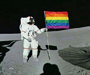 astronaut, cool, and lgbtq image